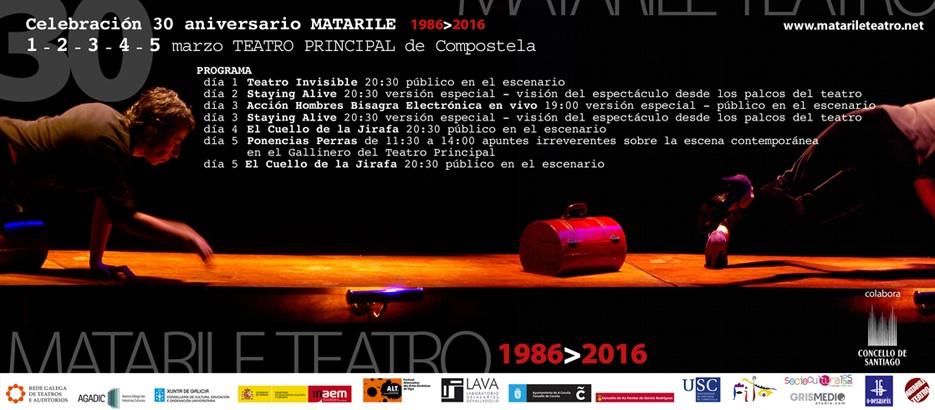 Programa 30 aniversario Matarile Teatro